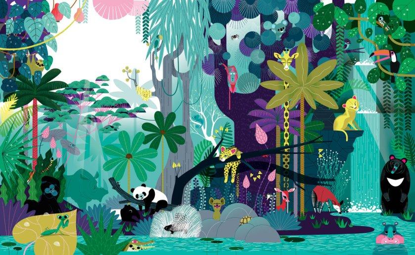 Le livre de la jungle très jungle - Josef Anton et Lucie Brunellière 2